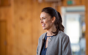Jacinda Ardern visits Morrinsville and her old school.