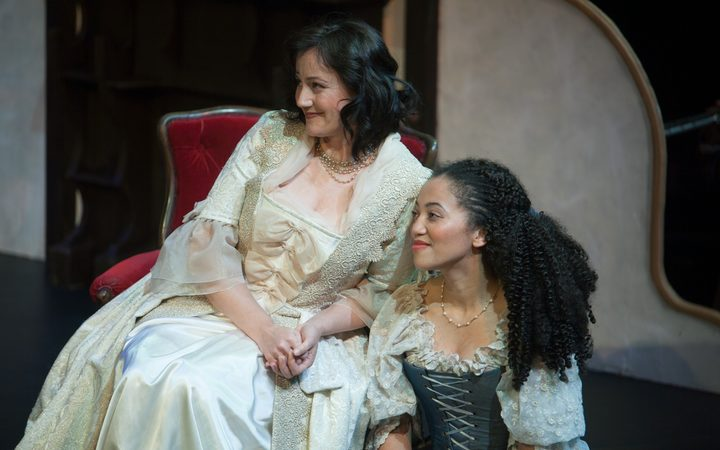 "Kate Lineham as The Countess and Emily Mwila as Susannah in ""The Marriage of Figaro"""
