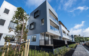 The exterior of the new development in Three Kings, Auckland which, out of the 100 apartments, 10 are classified as affordable.