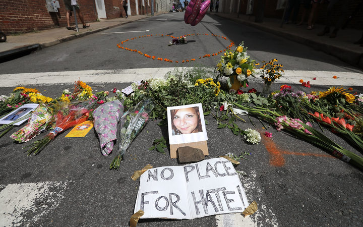 Heather Heyer was killed when a group of counter-protesters were rammed by a car.