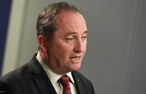 Australia's Deputy Prime Minister Barnaby Joyce addresses a press conference in Sydney, July 2016.