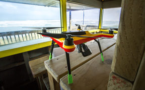A new initiative from the Murawai Surf Club - testing drones for surf livesaving purposes.