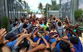 The 14th day of protest at the Manus Island detention centre 14-8-17