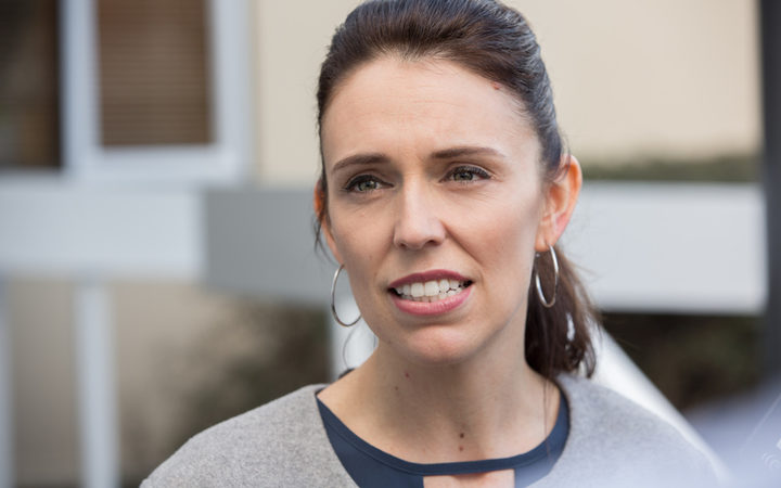 Jacinda Ardern on a visit to her hometown of Morrinsville. 10 August 2017.