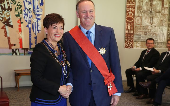 Sir John Key with Governor General Patsy Reddy.