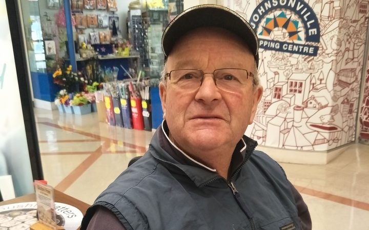 Ōhāriu resident Pat O'Neill at Johnsonville's mall.