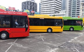 Auckland Transport has unveiled a new brand and colour scheme for most of the region's buses.
