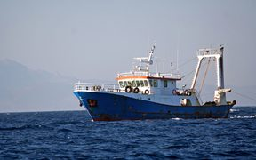 A commercial fishing boat off the coast (file photo)