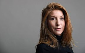 A photo released of Swedish journalist Kim Wall who was allegedly on board the submarine before it sank.