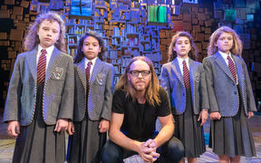 Tim Minchin with the cast of Matilda