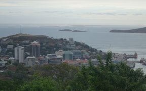 CBD of Papua New Guinea's capital Port Moresby.