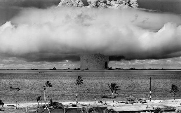 Nuclear test explosion at Bikini Atoll for Operation Crossroads, Marshall Islands, 1945/6