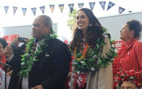 Aupito Su'a William Sio and Jacinda Ardern