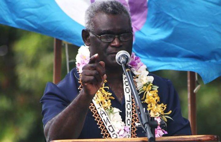 Solomon Islands' prime minister Manasseh Sogavare.
