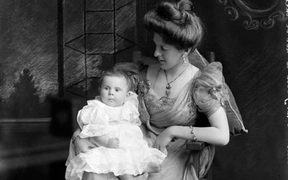 The Plunket Society was named after Victoria Alexandrina, Lady Plunket, wife of the governor of New Zealand. This 1905 portrait of her holding a child encapsulates the ideals of the society, which was formed in 1907.