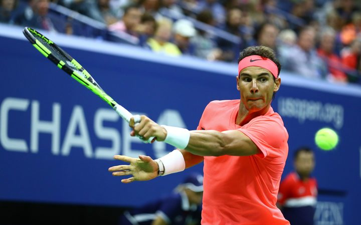 Rafael Nadal in action at the US Open, 2017
