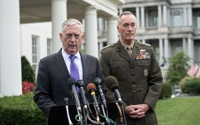US Defense Secretary James Mattis, left, and General Joseph Dunford, chairman of the Joint Chiefs of Staff.