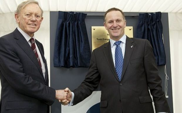 The late Sir John Todd with Prime Minister John Key in 2011.