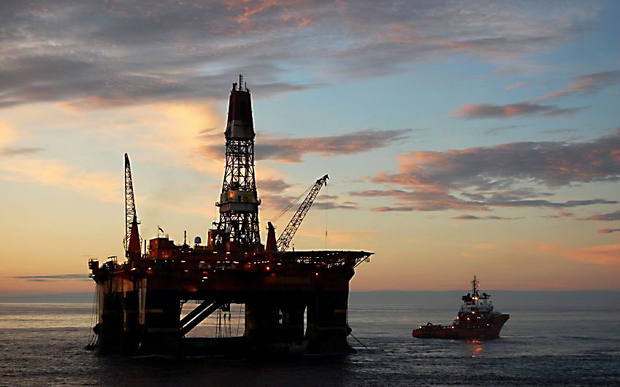 A $216 million drilling platform helped boost imports.