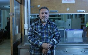 Raymond Teinaki has lived at Favona Lodge for seven years with his family in one room. He waited five years on the Housing NZ list, but removed himself because he lost hope.