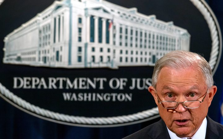 US Attorney-General Jeff Sessions announces Donald Trump's decision to back the DACA programme for so-called Dreamers.