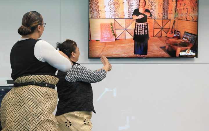 Learning how to ta'uolunga (Tongan dance) at the opening of 2017 Tongan Language Week in south Auckland.