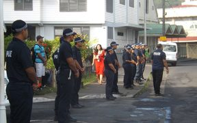 Police at the Pacific Leaders Forum