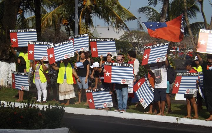 West Papua independence movement protest campaign in Samoa.