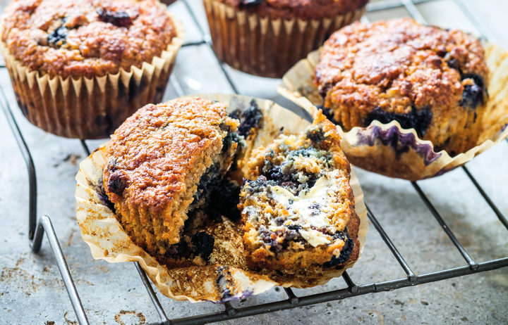 Banana Blueberry Muffins by Nadia Lim