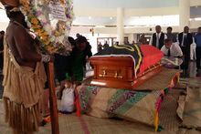 Edward Natapei's body lying in state