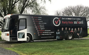 The Māori Party campaign bus. (2017)