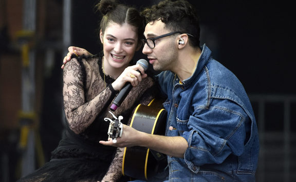 Lorde with Jack Antonoff.