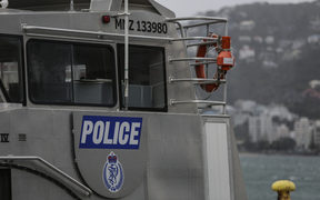 08092016 Photo: Rebekah Parsons-King. New Zealand Maritime Police boat.