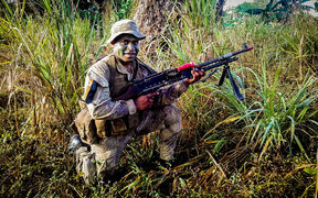 Officer cadet Nathan Muli from Papua New Guinea.