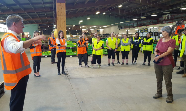 Packhouse worker Robyn Lane was unimpressed with National leader Bill English's answers during his visit to her Gisborne workplace