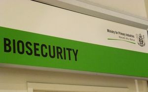Biosecurity sign, Auckland Airport.