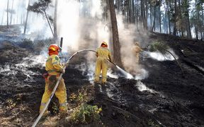 New Zealand firefighters helping douse hot spots in British Columbia.
