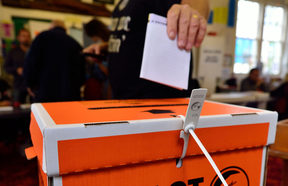 A man casts his vote in the 2014 General Election (file photo)