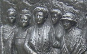 Tribute to the Suffragettes, Christchurch, NZ