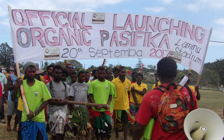 Launch of Organic Pasifika coffer in Tanna