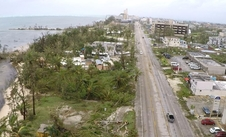 An aerial view of Saipan after Typhoon Soudelor.