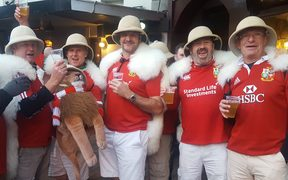 Lions supporters were out in force in Dunedin ahead of the game tonight.