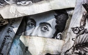 Venezuelan bank note eyes