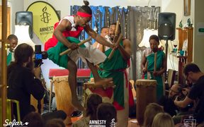 Burundi drummers at the giveahome concert in Auckland