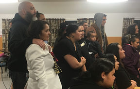 Marama Fox and whānau watching Te Ururoa Flavell accepting the MāoriParty will not make Parliament.