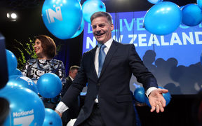 Bill English at the Natoinal Party's election event at the SkyCity Convention Centre in Auckland.