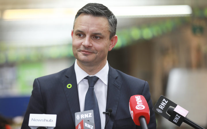 James Shaw at media stand up day after the election