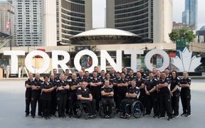 The NZ Defence Force Invictus Games team in Toronto.