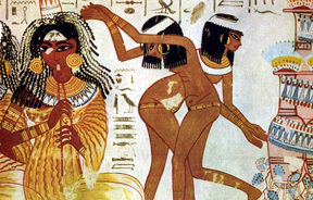 Musicians and dancers on fresco at Tomb of Nabamun