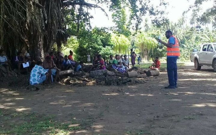 Evacuees given instructions in Ambae